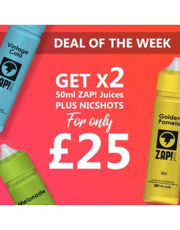 DEAL OF THE WEEK - 2x ZAP! 50ml's Only £25