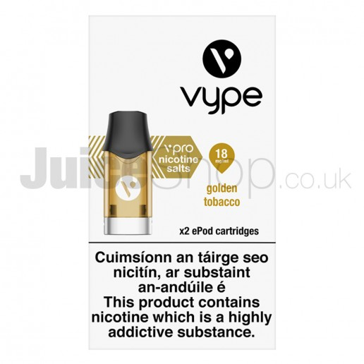 Golden Tobacco Pods by VYPE (x2)