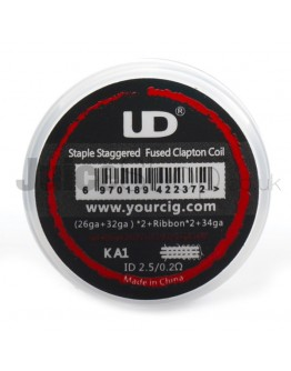 UD Staple Staggered Fused Clapton Coils (10pc)