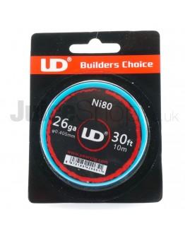 UD Ni80 Wire 26ga (30ft)
