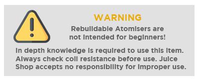 Rebuildable Warning - VOOPOO PNP RBA COIL